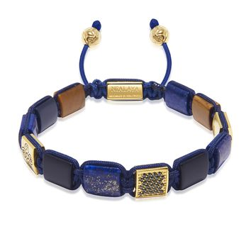 The Dorje Flatbead Collection - Blue Lapis, Matte Onyx, and Brown Tiger Eye
