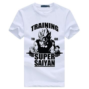 Training To Go Super Saiyan Dragon Ball Z T-Shirt