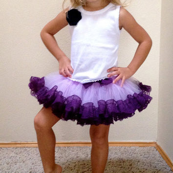 little princess girl boutique tutu clothing purple lace edged tutu mini fluffy tutu skirts for ballerina free shipping