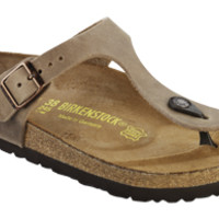 Gizeh Tobacco Oiled Leather Sandals | Birkenstock USA Official Site