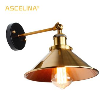 Vintage Loft Led Wall Lamp For Home Industrial Decor Retro Bathroom Lighting Iron Lampshade E27 Edison wall Light Fixtures