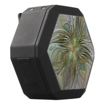 Floral Fantasy, Abstract Fractal Art Black Bluetooth Speaker