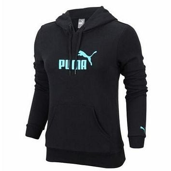 Puma Students with leisure sports coat cashmere sweater thick warm coat Gender female-1