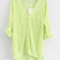 A 082928 Hollow Out The Knitted Cardigan