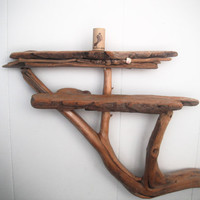 Beautiful Vermont mountain river driftwood shelf by Maebells