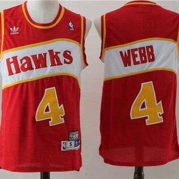 PEAP Atlanta Hawks 4 Webb Retro Basketball Swingman Jersey