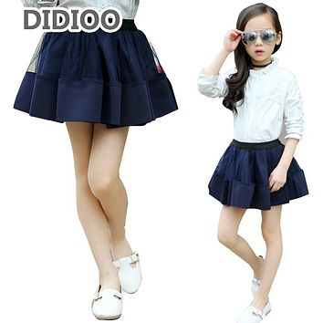 Children Tulle Skirts For Girls Clothing Elastic Waist Performance Pleated Skirts  School Kids Clothes