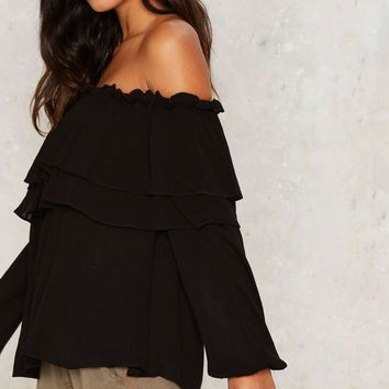 On the Loose Off-the-Shoulder Top
