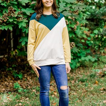 Juniper Color Block Sweatshirt