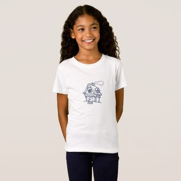 """Color In"" House Graphic Kids Shirt"