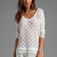 Free People Boxy Textured Sweater in White from REVOLVEclothing.com