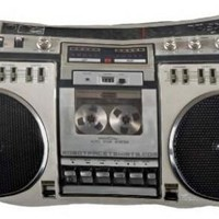 80's Boombox Ghettoblaster Throw Pillowcase Zippered Cover