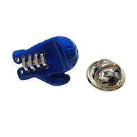 Blue Boxing Glove Lapel Pin