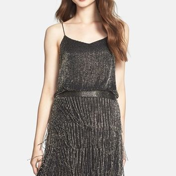 Women's Adrianna Papell Beaded Fringe Blouson Dress