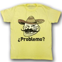 You Mad T-Shirt U Problemo Spanish Adult Yellow Tee Shirt