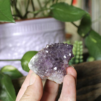 "2"" Uruguay Amethyst Cluster, Dark Purple Crystal Specimen, Chakra Healing Stone, Reiki, Metaphysical, Boho Decor, Wicca Witchcraft Supplies"
