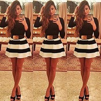 Bingirl 2015 Lady Bandage Bodycon Long Sleeve Evening Sexy Party Mini Dress