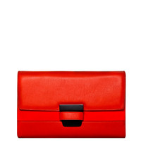Narciso Rodriguez Cayenne Leather Clutch - Red Clutch - ShopBAZAAR