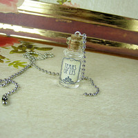 Tears of Lys GAME OF THRONES 2ml Glass Vial Necklace - Glass Cork Bottle Pendant - Westeros Song Ice Fire Poison Charm