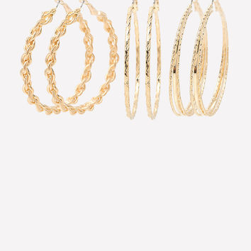 MIX HOOP EARRING SET