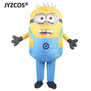 Cool JYZCOS Adult Inflatable Minion Costume Halloween Carnival Party Cosplay Costume Double Eyes Minions Mascot Fancy Dress OutfitsAT_93_12