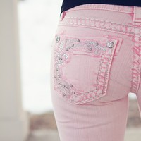 Making Me Blush Colored Skinny Jeans by Miss Me