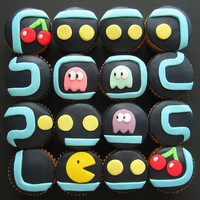 pacman cupcakes | Flickr - Photo Sharing!