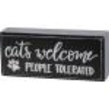 Cats Welcome Box Sign By Primitives By Kathy
