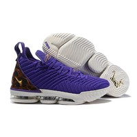 "Nike LeBron 16 ""King Court Purple"" Men Basketball Shoes - Best Deal Online"