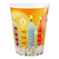 Birthday Candles Paper Cup