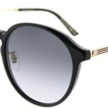 Gucci GG 0205SK 002 Black Plastic Fashion Sunglasses Grey Gradient Lens