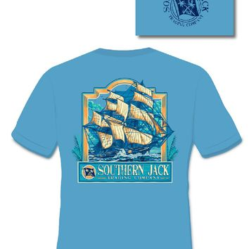 Southern Jack Apparel Trading Ship Boat Comfort Colors Unisex Frass Bright T Shirt