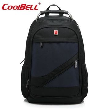 Cool Backpack school CoolBell waterproof 15.6 inch laptop case notebook backpack for teenagers business Hiking Bags for men women School Bag AT_52_3