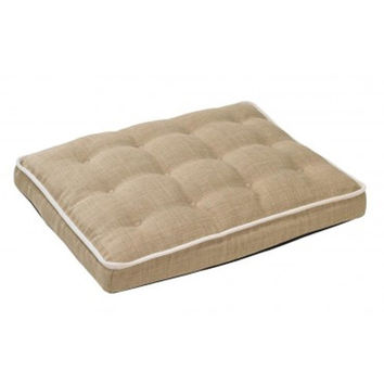 MicroLinen Luxury Dog Crate Mattress Pad — Flax