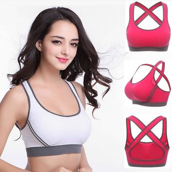 HIBUBBLE Sports shirt Running Gym Fitness Athletic Bras Padded Push Up Tank Tops For Girls and Women ropa deportiva Yoga Top