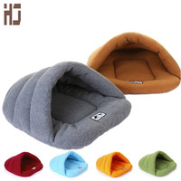 6 color warm Pet Cat Bed For Dogs Puppy Kennel Sofa Pet Mat Cat House Sleeping Bag Winter Nest Polar fleece Dog Kennel b115