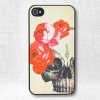 iPhone 4 Case, iPhone Case, iPhone 4S Case - Rose & Skull - 138