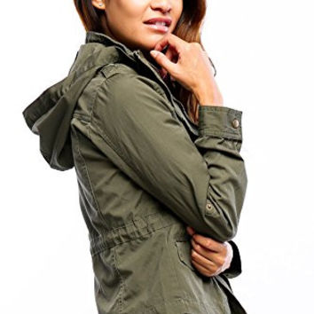 Califul Anorak Lightweight Utility Army Military Jacket Parka Drawstring