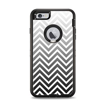 The White & Gradient Sharp Chevron Apple iPhone 6 Plus Otterbox Defender Case Skin Set