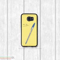 Legal Note Pad Case, Custom Phone Case for Galaxy S4, S5, S6