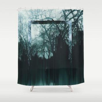 Tree Lines Shower Curtain by Ducky B