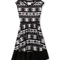 GB Girls 4-6X Tribal-Printed Swing Dress - Black Ruby
