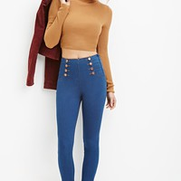 High-Waisted Skinny Sailor Jeans