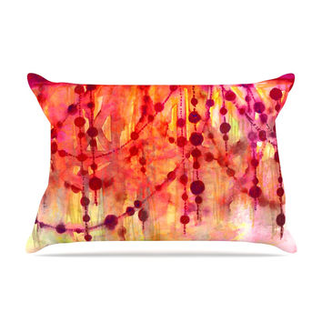 "Ebi Emporium ""Prismacolor Pearls"" Pink Orange Pillow Sham"