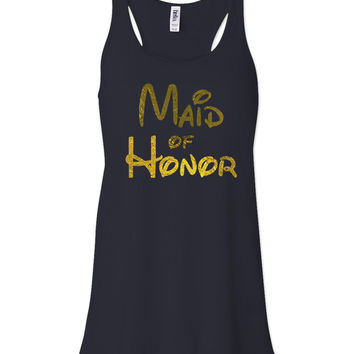 Midnight Disney Maid of Honor Tank by jCUBEDk