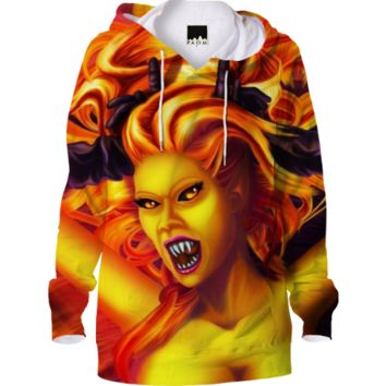 Mad Dolores Goddess of fire Hoodie