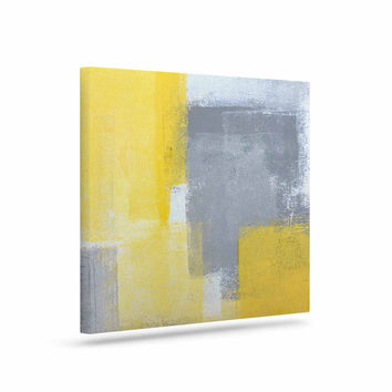 "CarolLynn Tice ""Steady"" Yellow Gray Canvas Art"
