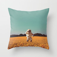 Hello Throw Pillow by Slimesunday