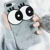 Big eye ball phone case shell  for iphone 6/6s,iphone 6p/6splus,iphone 7/8,iphone 7p/8plus