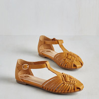 Boho Weave Only Just Begun Sandal in Sunflower by ModCloth